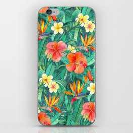 Classic Tropical Garden iPhone Skin