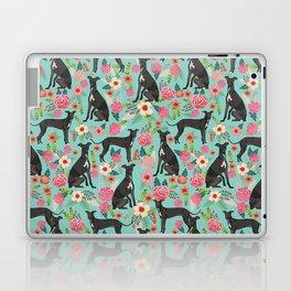 Italian Greyhound pet friendly pet portraits dog art custom dog breeds floral dog pattern Laptop & iPad Skin