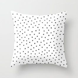 Black Cats Polka Dot Throw Pillow