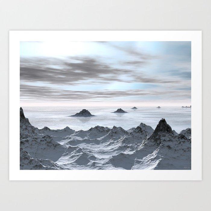 Frozen Arctic Sea Art Print