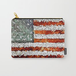 American Flag Abstract Carry-All Pouch