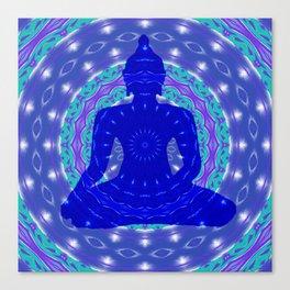 Blue Medicine Buddha Mandala Canvas Print