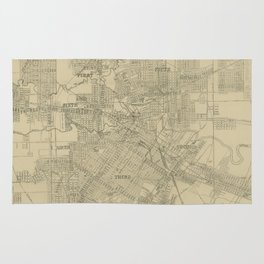 Vintage Map of Downtown Houston (1913) Rug