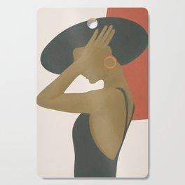 Lady in a Black Dress Cutting Board