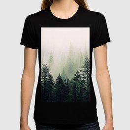 Foggy Pine Trees T-shirt