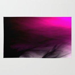 Pink Flames Pink to Black Gradient Rug