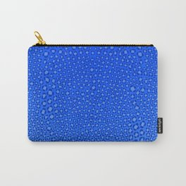 Wild Thing Cool Blue Leopard Print Carry-All Pouch