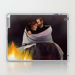 fireplace cuddles // kabby Laptop & iPad Skin