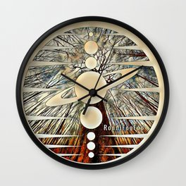 Planetary Forest Wall Clock