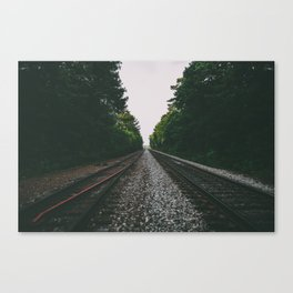 Empty Train Tracks Canvas Print