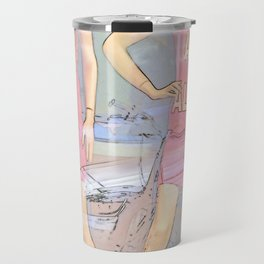 Sale in the clothing store Travel Mug