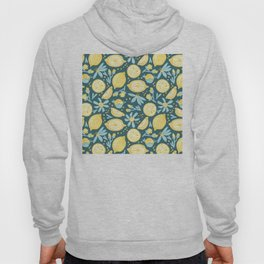 Lemon Pattern Green Hoody