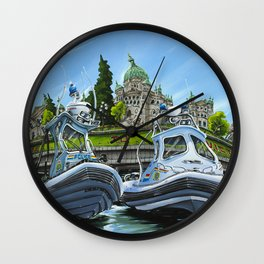RCMP Boats Wall Clock
