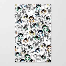 Millions of Mimes Canvas Print
