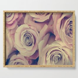 Retro Roses Serving Tray
