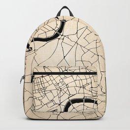 London Gold on Black Street Map II Backpack