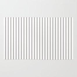 Silver Thistle Pinstripe on White Rug