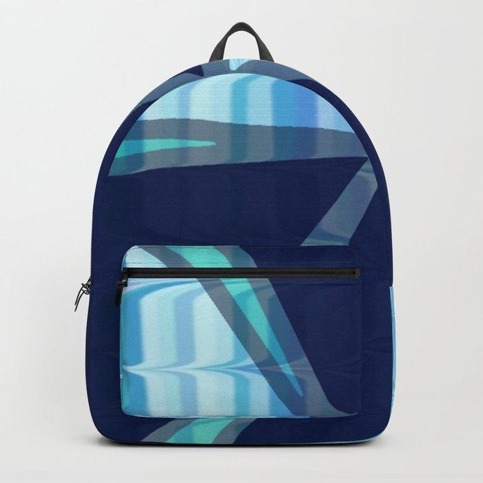 Birds In Flight Pattern 2 In Shades of Blue Backpack