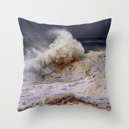 Monster Waves At Pipeline .2 Throw Pillow