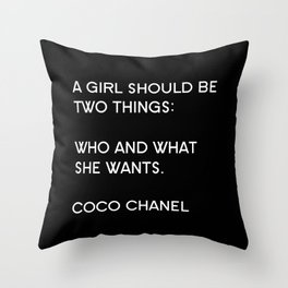 Who & What Throw Pillow