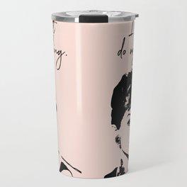 Audrey Hepburn, I Just Do My Thing. Travel Mug