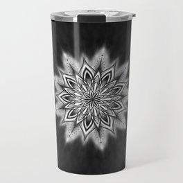 Black Ice Mandala Swirl Travel Mug