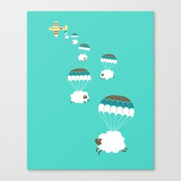 Sheepy clouds Canvas Print