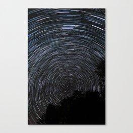 Epic Star Trail Photo Canvas Print