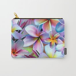 Rainbow Plumeria Carry-All Pouch