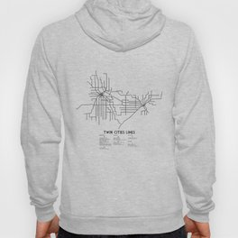 Twin Cities Lines Map Hoody