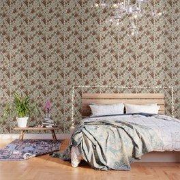 Antique Floral Pattern Wallpaper