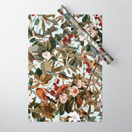 Floral and Birds XXVII Wrapping Paper