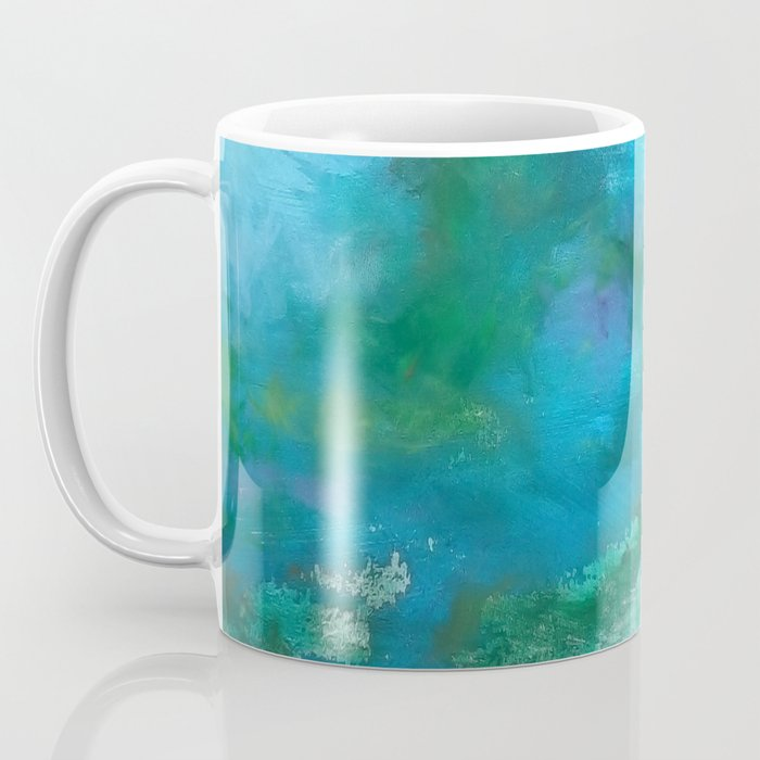 Light Blue Monet´s Theme of Waterlilies Coffee Mug