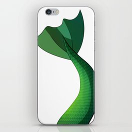 Emerald Mermaid Tail V2 iPhone Skin