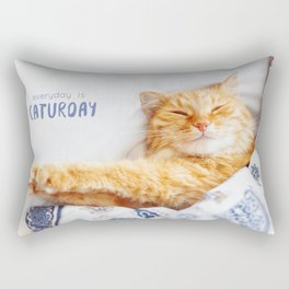 Everyday is caturday Rectangular Pillow