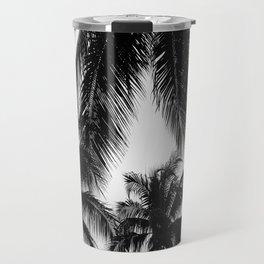 Black and White Palms Travel Mug