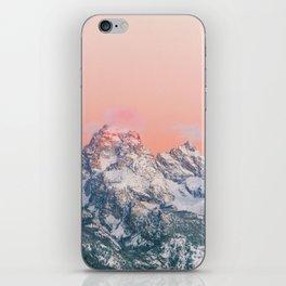 Alpenglow LIVING CORAL Mountain Sunset iPhone Skin
