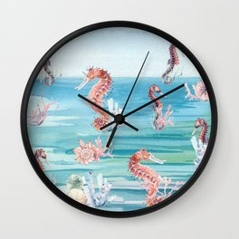 Sea of Sea Horses Wall Clock