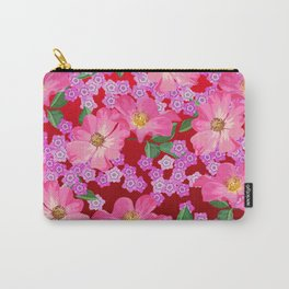 tossed flower garden Carry-All Pouch