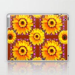 CINNAMON COLOR YELLOW SUNFLOWERS ART Laptop & iPad Skin