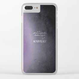 wander {violet Clear iPhone Case