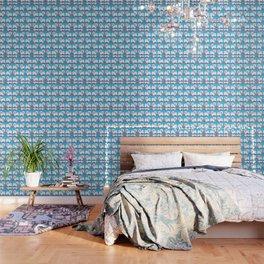 Bichon Frise Floral Wallpaper