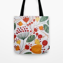Flowers in warms Tote Bag
