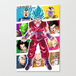 Dragon Ball Super Universal Survival Arc Universe 7 Canvas Print