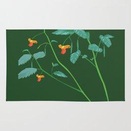 Jewel weed - illustration Rug