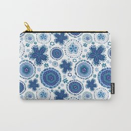 Organic Medallions - Blue Carry-All Pouch