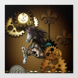 Steampunk, awesome steampunk horse Canvas Print
