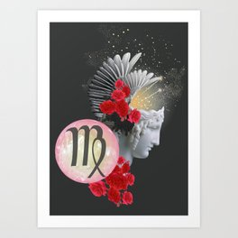 Virgo Head Full Of Stars Art Print
