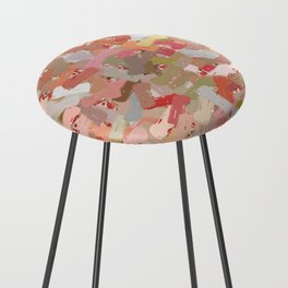 Coral Beads Paint Splatter 5050 Counter Stool
