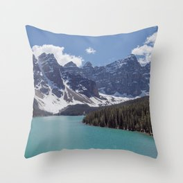 Lake Moraine Top View Throw Pillow
